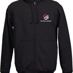 Full-Zip Hooded Sweatshirt- Unisex