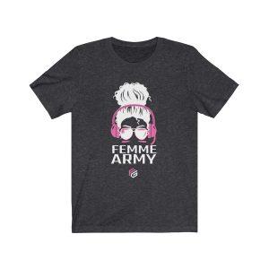 Femme Army Gamer Tee – Pink Headphones