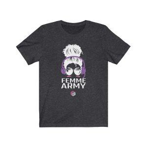 Femme Army Gamer Tee – Purple Headphones